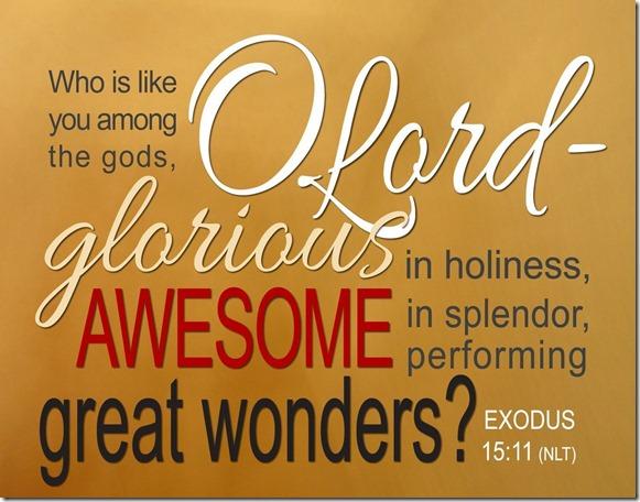 Exodus 15-11